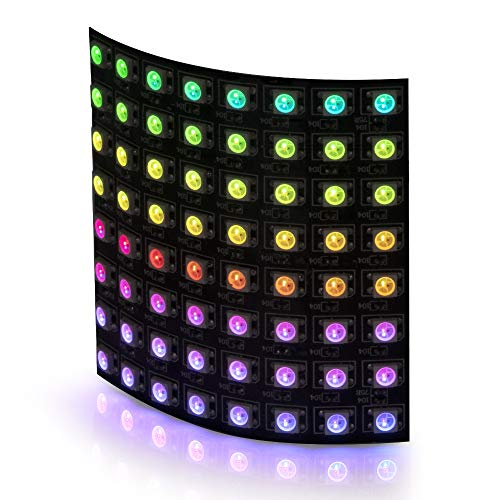BTF-LIGHTING 0.24ft0.24ft Pixel 64 Pixels WS2812B LED Programmed Panel Screen Digital Flexible Individually Addressable DC5V