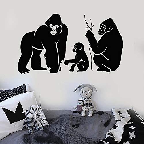 Etiqueta de la pared de la familia de orangután mono zoológico Animal habitación de los niños dormitorio guardería área de juegos decoración del hogar Mural vinilo adhesivo para ventana
