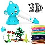 Ideal_Swan Penna 3D, 3D Smart Pen, Penne 3D Printing per Bambini e Adulti, miglior Compleanno e Regalo di Natale