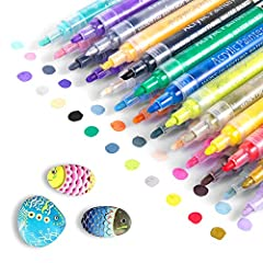 ★【ENVIRONMENTALLY FRIENDLY AND NON-TOXIC】:Strictly quality-tested and conforming to ASTM D-4236, Not only environmental friendly, but also vivid and quick-dry, our Magicfly Acrylic Pen are ideal for artists & art students, teenagers & adults. ★【BRIGH...