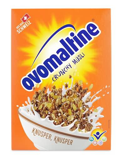 Ovomaltine Crunchy Müsli - Schoko Knusper-Müsli mit einzigartiger Cerealien-Mischung und Ovomaltine - Schokomüsli mit wertvollen Vitaminen, Ballaststoffen und Mineralstoffen, 1 x 500 g