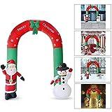 heummyo Christmas Archway Arco Inflable Santa Claus Muñeco de Nieve Adornos de...