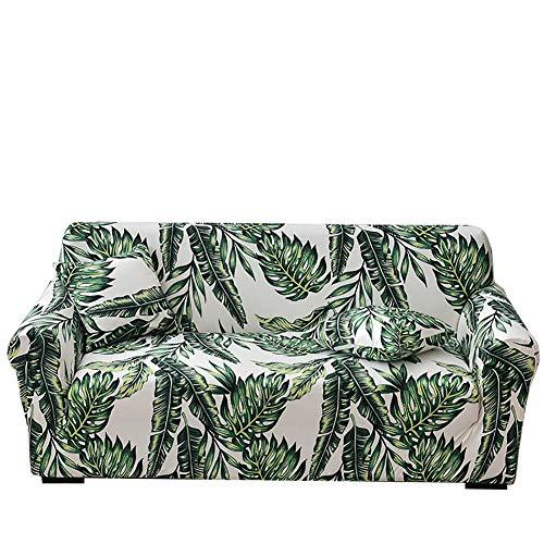 xcv Yinnn Funda Cubre Sofá de Forma L, Funda elástica elástica, Protector para Sofá de Poliéster, Extraíbles y Lavables, con Cuerda de fijación 2-Seater 145-185cm Green