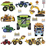 heavy equipment window decals - RoomMates New Speed Limit - Construction Vehicles Peel and Stick Wall Decals - SPD0003SCS, Multi