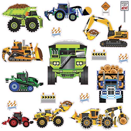 RoomMates New Speed Limit - Construction Vehicles Peel and Stick Wall Decals - SPD0003SCS, Multi