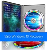 Sony Vaio Windows 10 Pro & Home System Recovery Restore Reinstall Repair Boot Disc + Driver DVD 32 Bit