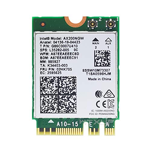 Intel Dual Band Wireless AX200NGW 2.4Gbps 802.11ax Wireless Intel AX200 WiFi Card Bluetooth 5.0 for ...