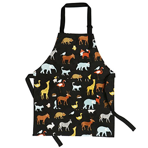 Children Chef Aprons Pure Cotton Kids Aprons with Pocket Baby Aprons