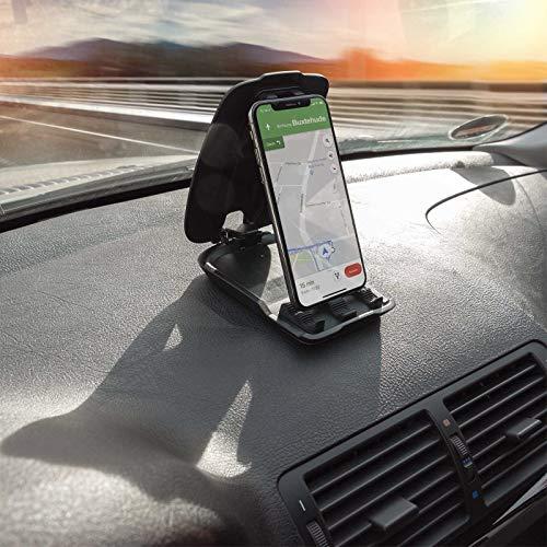 Mobilefox Auto Handy Halterung KFZ Armaturenbrett Klapp Halter PKW für Huawei P30 P20 Pro Lite P10 P9 P8 Mate 10 20 - 2