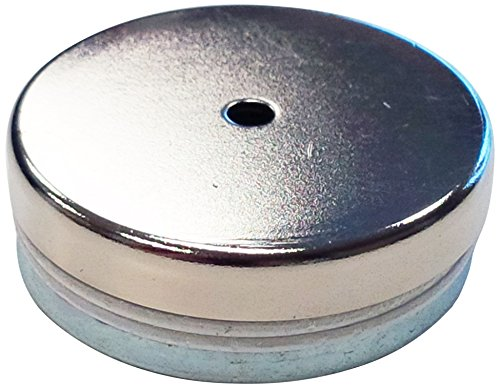 """Eclipse Magnetics E685 Neodymium Rare Earth Shallow Pot Magnet, 2.62"""" Diameter x 0.37"""" Thickness, 200 lb of Pull Force"""
