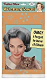 Fiddler's Elbow OMG! I Forgot to Have Children 100% Cotton, Eco-Friendly Dish Towel, Kitchen Towel with Hanging Loop, Kitchen Towel Novelty, Kitchen Towel Funny Quotes