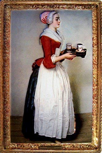Das Schokoladenmädchen E. J. Liotard Blechschild Schild Blech Metall Metal Tin Sign 20 x 30 cm