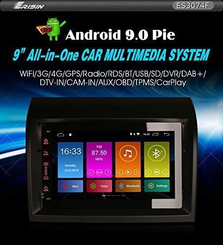 Autorradio Erisin ES3074F 7' Android 9.0 GPS Dsp Carplay para Fiat Ducato Citroen Saltador Peugeot Boxer