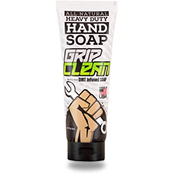Grip Clean | Pumice Hand Cleaner for Auto Mechanics - Heavy Duty Soap, All Natural & Dirt Infused for Dry Hands