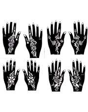 Henna Tattoo Sjablonen Set van 8 Rozalen