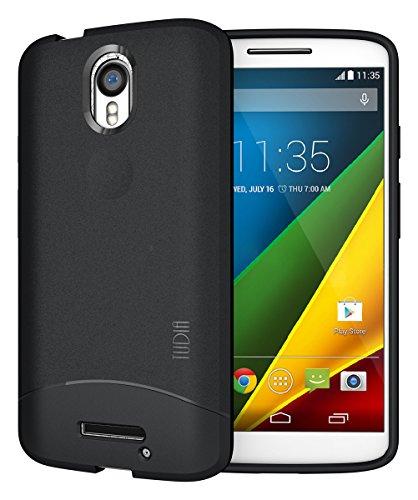 TUDIA Droid Turbo 2 Case Full-Matte Arch TPU Bumper Protective Case for Motorola Droid Turbo 2 (Verizon)/Moto X Force (2015) - Black