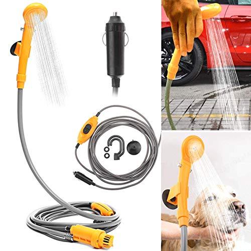 JK-2 Tragbare Outdoor Camping Dusche Kit Max 7L Wasser pro Minute für Haustier Bad Auto Waschen 12 V Autoduschen mit Wasserpumpe 5 Meter Kabel Zigarettenanzünder Stecker