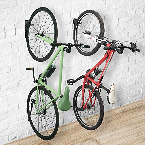 Wallmaster Bike Rack Garage Wall Mount Bicycles Hanger 2-Pack Storage System Vertical Bike Hook for Indoor