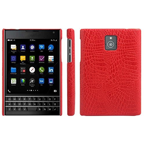 HualuBro BlackBerry Passport Hülle, [Ultra Slim] Premium Leichtes PU Leder Leather Handy Tasche Schutzhülle Case Cover für BlackBerry Passport Smartphone (Rot)