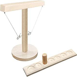 Ring Toss Games, Craggy Games for Kids Adults- Handmade Wooden Ring Tossing Throwing Games, for Bars Party Home Family Games