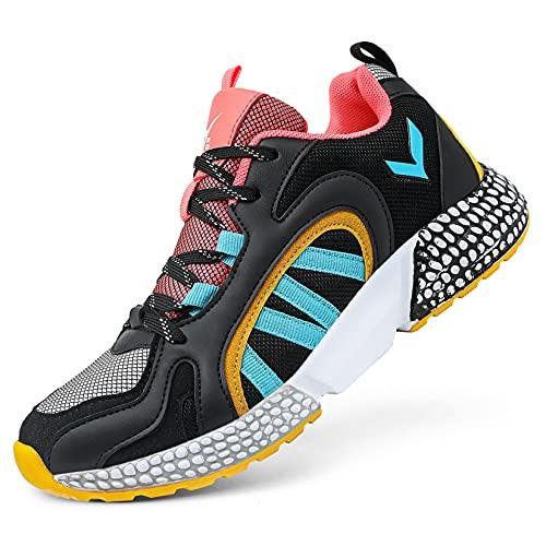 Zapatillas Casual Unisex Niños Zapatillas de Running para Niño Tenis Zapatos,28 Naranja,32 EU