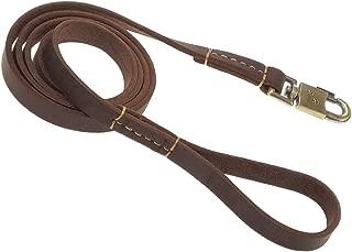adjustable leather leash