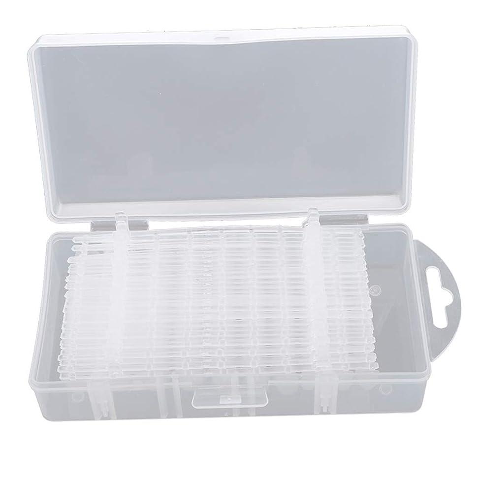 ブラウザ支給備品KESOTO 約300枚入 クリア つけ爪 付け爪 ネイルチップ 練習用 ネイルサロン 3タイプ選べ - #1