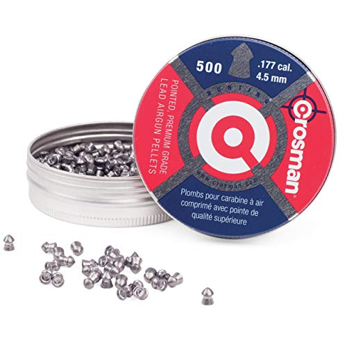 Crosman 7-P577 .177-Caliber Pointed Pellets (500-Count)