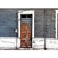 ビニール写真の背景の小道具古典的な木製のドアの写真の背景スタジオ写真の写真の小道具 A31 10x7ft/3x2.2m