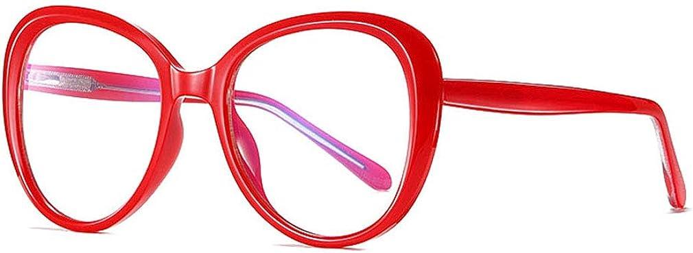 Y20072014 Yying Gafas de bloqueo de luz azul Juego de computadora Marco transparente Empoll/ón Lente sin receta Anti dolor de cabeza Cansancio ocular para mujeres y hombres