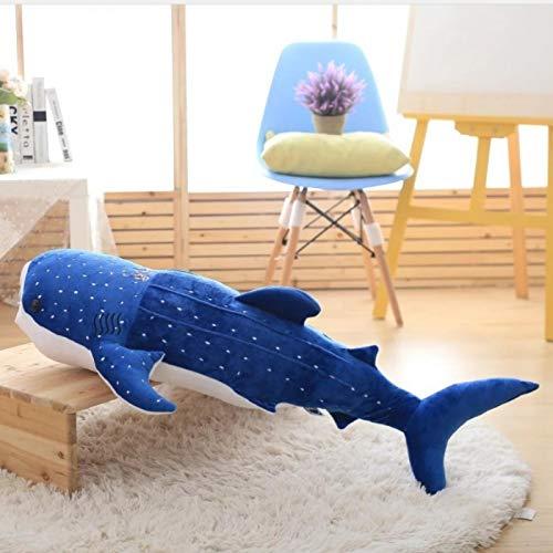 Peluches De Tiburón Azul, Almohada De Abrazar De Algodón De Peluche Suave, Juguetes De Peluche De Ballena Bonitos, Regalos De Cumpleaños para Niños, Bebé (75Cm)