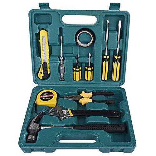 Betzila 12 Piece/Set Home Repair Tool Set Kit Household Craft Box Case Hand Tool Kit (12 Tools)