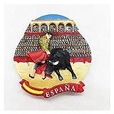 MINGQIMY imanes refrigerador Pintado Hecho a Mano España Pamplona Bullfighting 3D Frigorífico...
