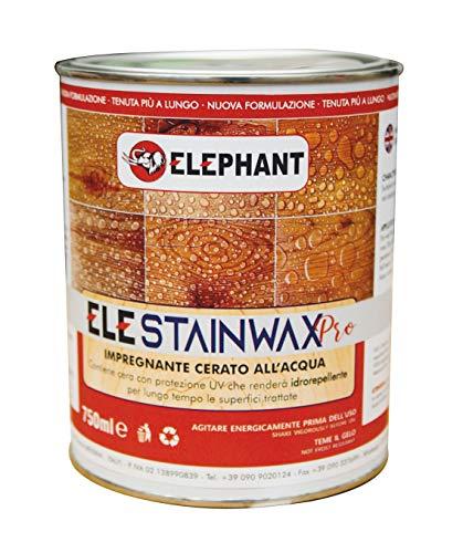 750 ml   Impregnante CERATO WAX per legno all'acqua - ELE STAINWAX PRO (Trasparente)