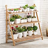 unho 3 Tier Bamboo Plant Stand Outdoor Indoor...