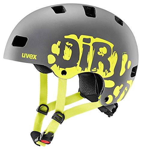 Uvex Unisex Jugend, Kid 3 cc Fahrradhelm, Dirtbike Grey Lime Mat 51-55cm