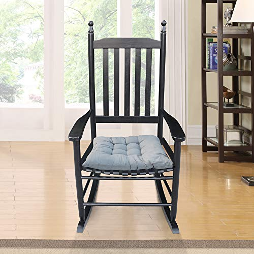 Bellemave Rocking Chair, Classic Solid Wood Rocking Chair with Cushions and armrests, Suitable for Indoor and Outdoor Porch Rocking Chairs. (Black)