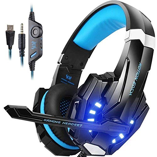 Audífonos para juegos para PlayStation PS4 3,5 mm FORTNITE para PS4, PC, Xbox One Controller azul