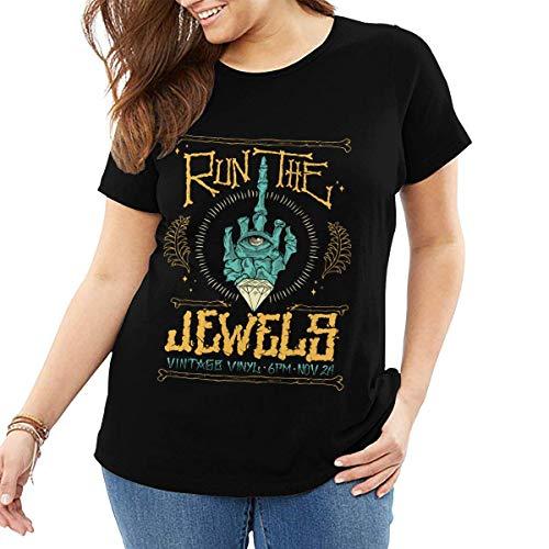 henghuidashi Run The Jewels Womens Plus Size Short Sleeve Loose T Shirt Tops