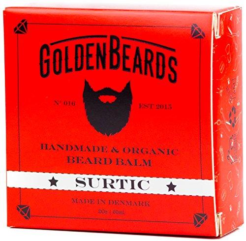 arbe Bio Baume - Surtic- &0 ML Golden Beards | 100% Naturel | Jojoba & Argan & Abricot huile & Path Patchouli ,Menthe et orange, Lavande et calcaire , tous les produits sont main