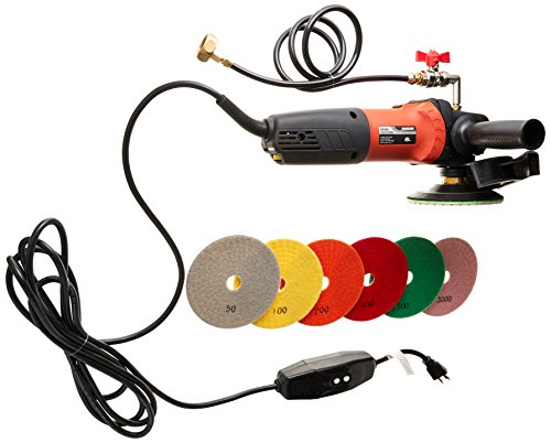 Hardin CCPOLSET 5' Concrete counter top Cement Floor Polisher Grinder and Diamond Pad Set