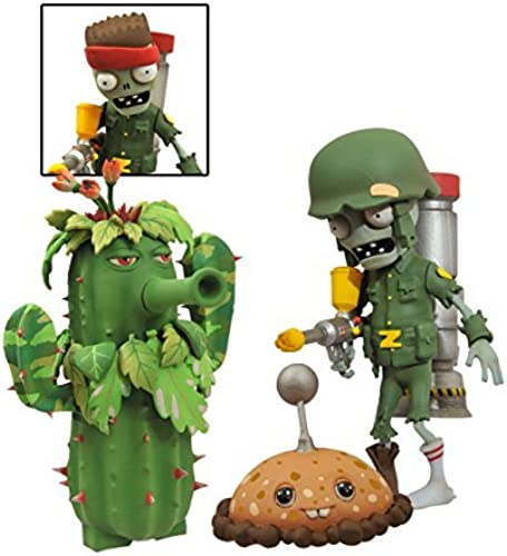 Diamond Select Toys Plants vs. Zombies Garden Warfare  Foot Soldier Zombie vs. Camo Cactus Select Action Figure by Diamond Select
