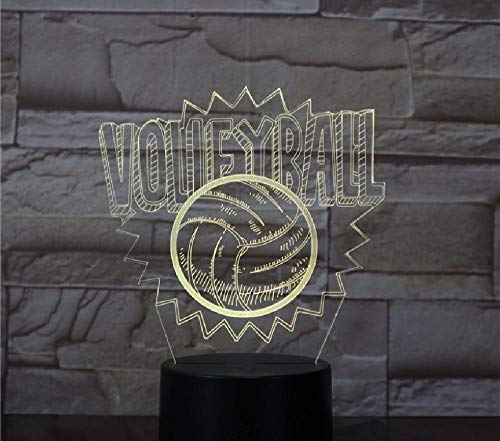 Volleyball 3D LED lamp meerdere kleuren Touch Creative Night Table bureaulamp meerdere kleuren dimmer USB tafellamp remote telefoon Bluetooth control kleur