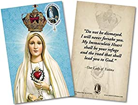 Our Lady of Fatima 100 Year Anniversary with Immaculate Heart Quote Holy Card Paper Pack of 50