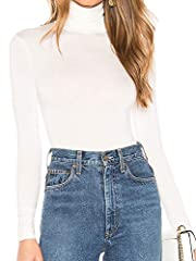 100% Modal/Sweater ribbed Slim Fit Turtleneck Top / Casual Wear and Great Comfortable Fitting For All Sizes True to size. Stretch material, figure hugging, easy to fit any body figure and you will feel close but free/relaxed under this t shirt, slim ...
