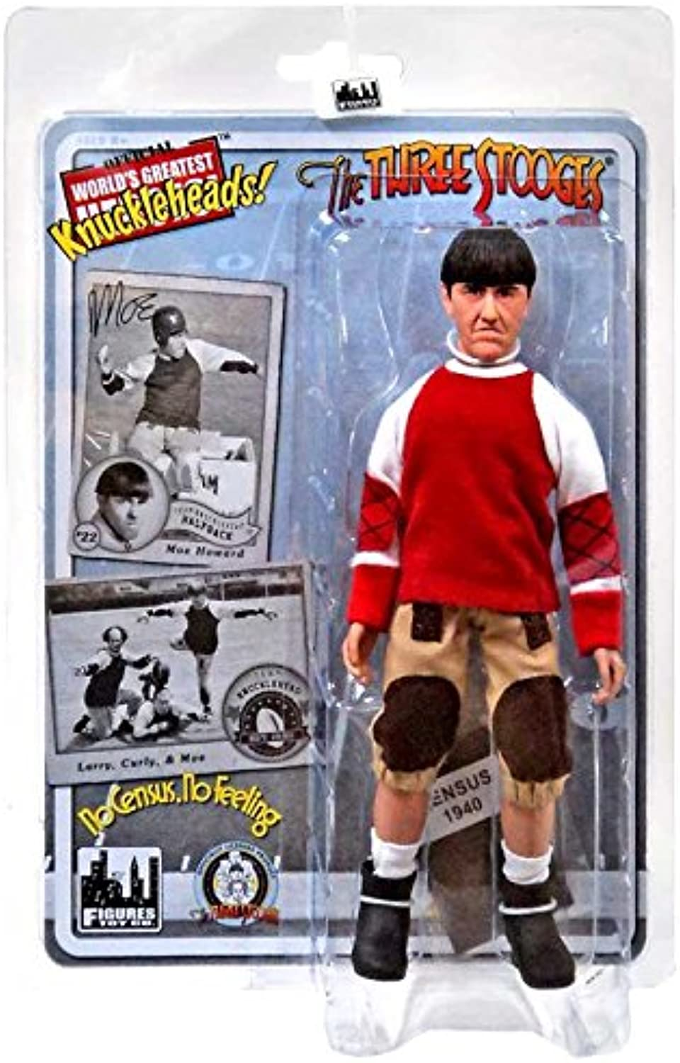 The Three Stooges No Census, No Feeling Moe 8  Action Figure