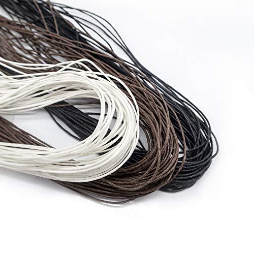 TOAOB 105 Meters Gewachste Baumwollschnur Wachsband Baumwollkordel Durchmesser 1mm für Schmuckherstellung DIY Handwerk Machen