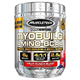 Post Workout BCAA Amino Acids | MuscleTech Myobuild Amino BCAAs | Muscle Builder & Muscle Recovery Powder | Featuring Taurine & Betaine | BCAAs Amino Acids Supplement | Fruit Punch (45 Servings)