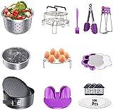 Accesorios para ollas instantáneas, juego de ollas a presión, compatible con cestas de vaporizador...