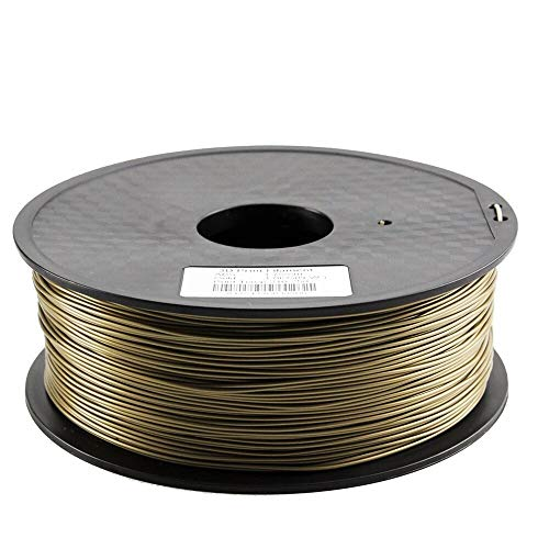 without KF-3D, Zonestar Shipping From Russia 3D printer filament PLA 1.75mm plastic Consumables Material 28 Colors 1KG/Roll (Color : Gold)